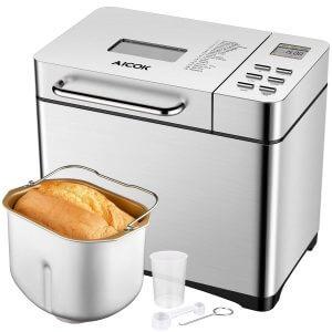 Aicok Machine à Pain 19 Programmes Inox 500g-1kg